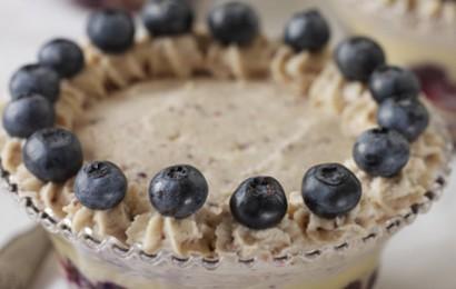 White Stilton, Cranberry and Blueberry Trifle